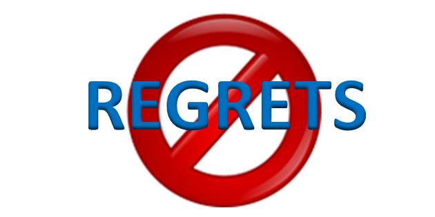 No Regrets!