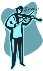 Violinist clipart